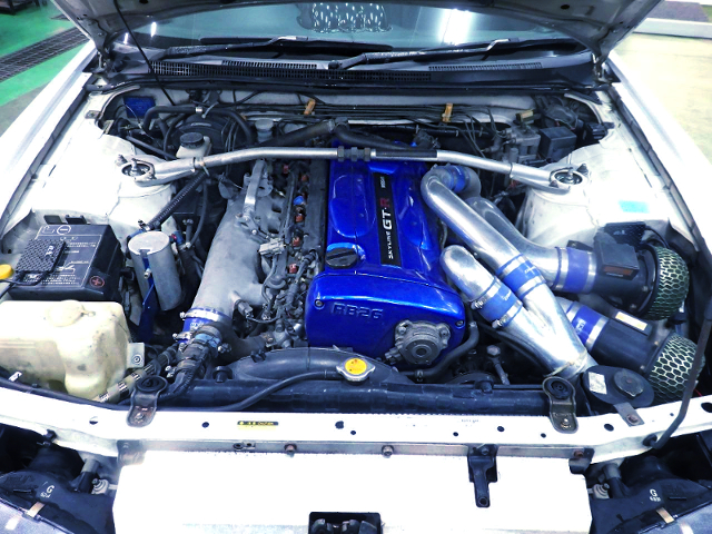 RB26DETT ENGINE With BLUE ENGINE COVER