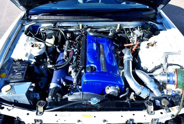 RB26 TWINTURBO ENGINE OF BLUE COVER