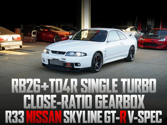 TO4R SINGLE TURBO ON R33 GT-R V-SPEC