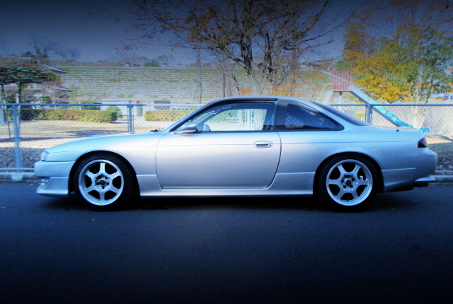 LEFT-SIDE EXTERIOR OF S14 SILVIA Ks TO SILVER COLOR