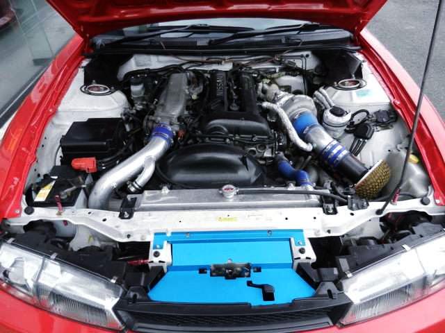 BLACK-TOP SR20DET TURBO ENGINE OF S14 MOTOR