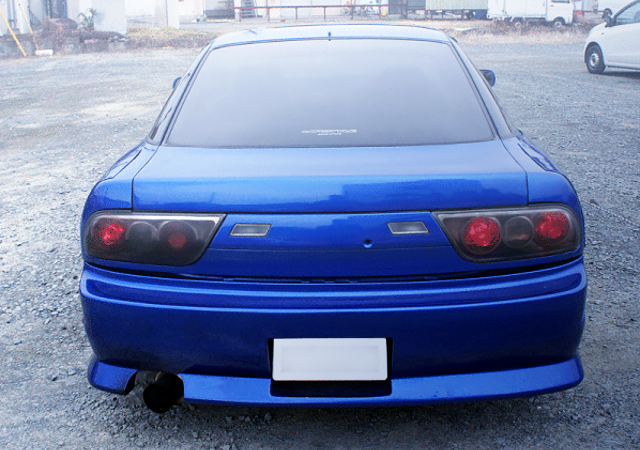 REAR EXTERIOR OF 180SX TO BLUE PAINT