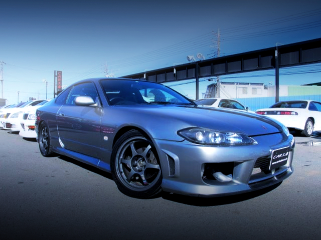 FRONT EXTERIOR OF S15 SILVIA SPEC-R TO SILVER