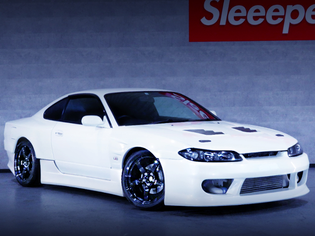 FRONT EXTERIOR OF S15 SILVIA SPEC-R TO WHITE COLOR
