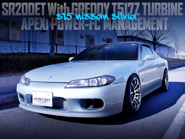 T517Z TURBP AND POWER-FC INTO A S15 SILVIA LIGHT BLUE