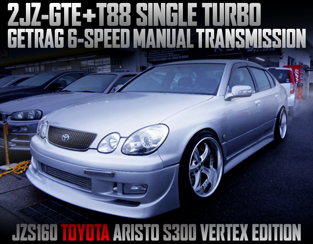 2JZ-GTE SWAP WITH T88 TURBO AND 6MT INTO A JZS160 ARISTO