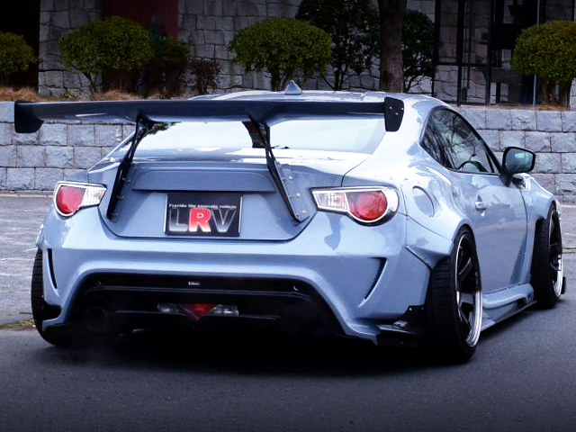 REAR EXTERIOR OF TOYOTA 86GT LTD TO WIDEBODY