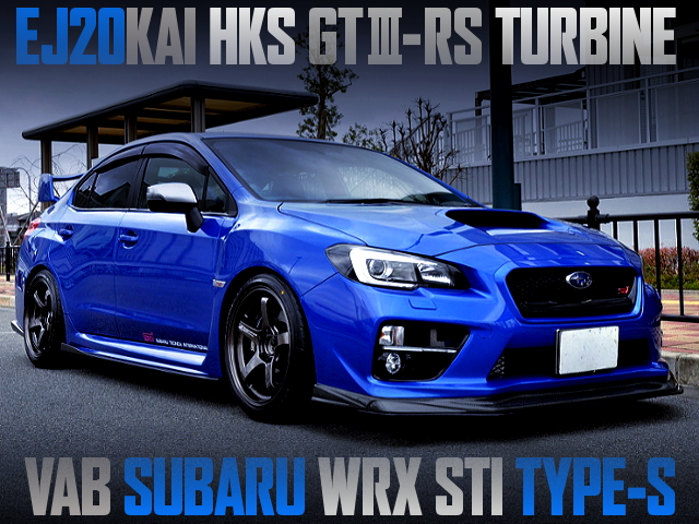 HKS GT3-RS TURBOCHARGED VAB SUBARU WRX STI TYPE-S