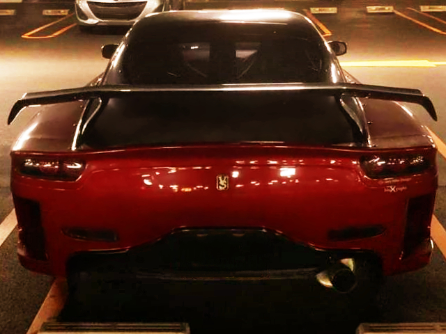 REAR TAIL LIGHT AND WING OF FORTUNE RX7