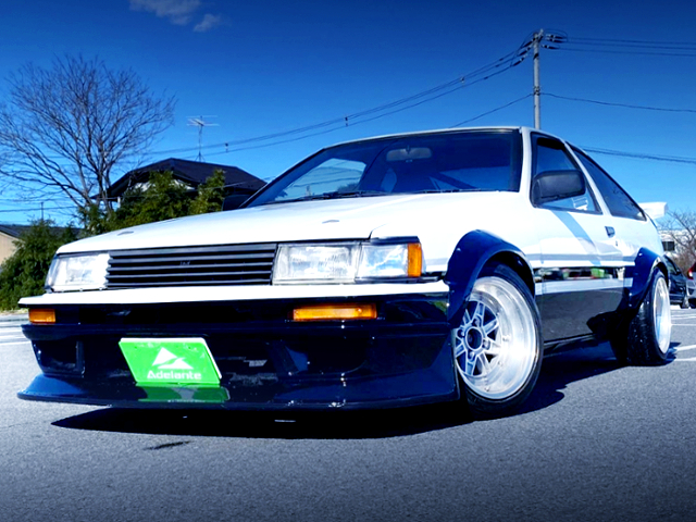 FRONT EXTERIOR OF AE86 LEVIN GTV