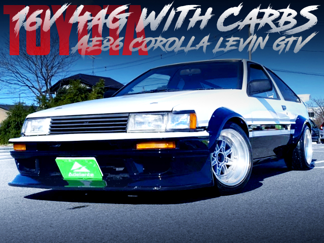16V 4AG With CARBS INTO AE86 LEVIN GTV PANDA TWO-TONE