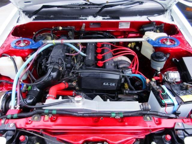 AE92 16V 4AG ENGINE OF AE86 TRUENO ENGINE ROOM