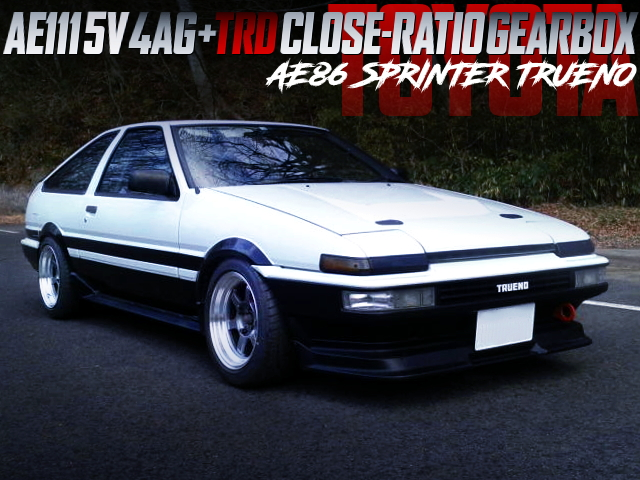 5V 4AG With TRD CLOSE-RATIO GEARBOX INTO AE86 TRUENO