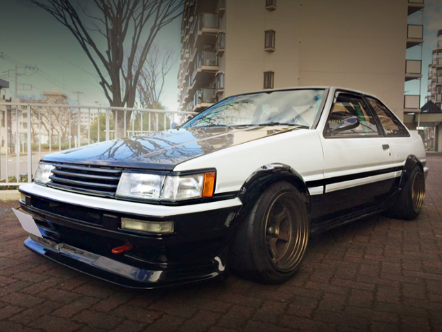 FRONT EXTERIOR OF AE86 LEVIN GT-APEX