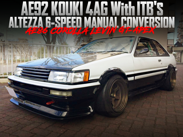 AE92 KOUKI 4AG With ITBs AND 6MT INTO A AE86 LEVIN GT-APEX