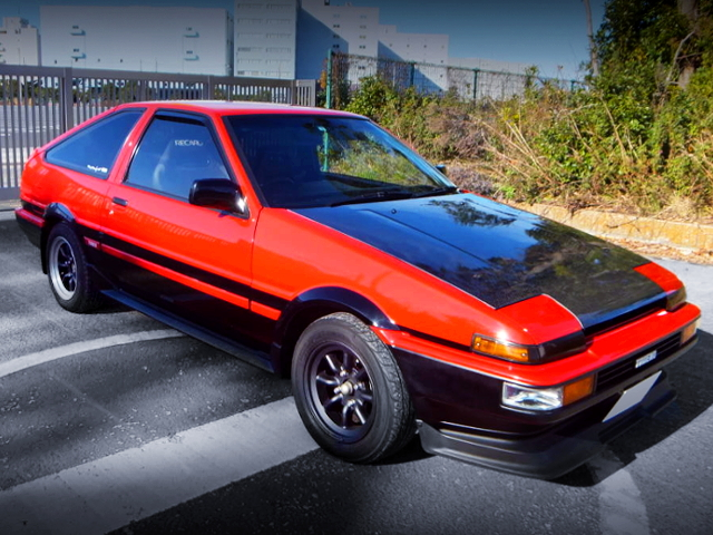 FRONT EXTERIOR OF AE86 HATCH