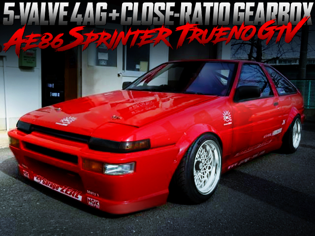 5-VALVE 4AG and CLOSE-RATIO GEARBOX INTO AE86 TRUENO GTV RED