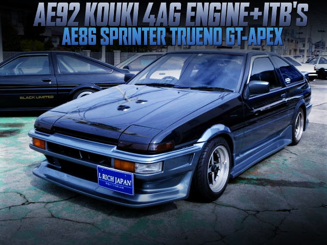 AE92 KOUKI 4AG With ITB's INTO AE86 TRUENO GT-APEX