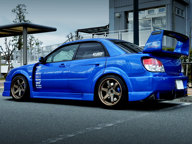 REAR EXTERIOR OF HAWKEYE GDB IMPREZA WRX STI WIDEBODY