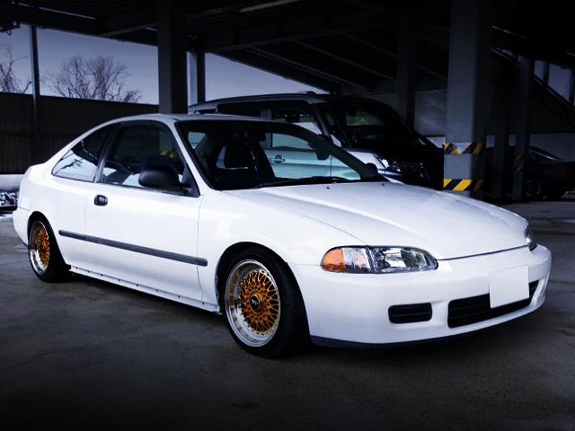 FRONT EXTERIOR OF EJ1 CIVIC COUPE