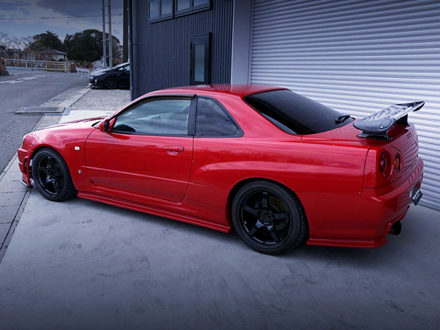 REAR EXTERIOR OF ER34 SKYLINE TO GT-R WIDEBODY