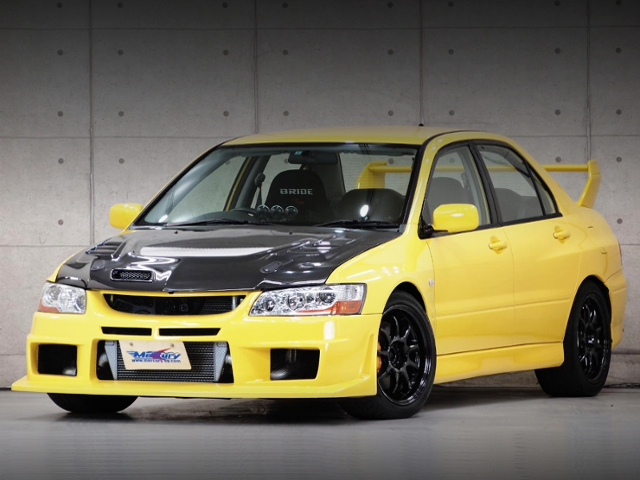 FRONT EXTERIOR OF EVO7 TO YELLOW