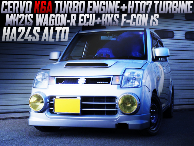 K6A TURBO ENGINE SWAPPED HA24S ALTO