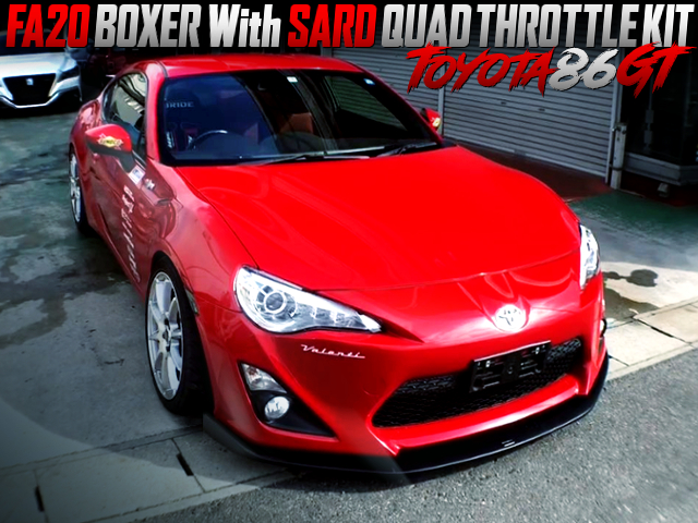 SARD QUAD THROTTLE KIT ON FA20 With TOYOTA 86GT