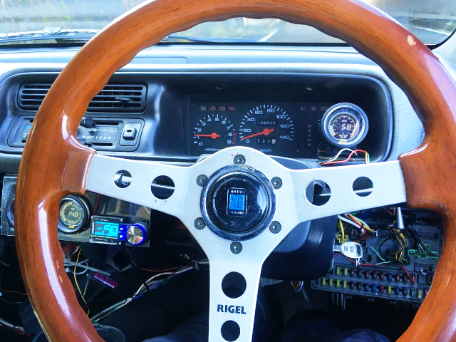 WOOD STEERING AND CLUSTER