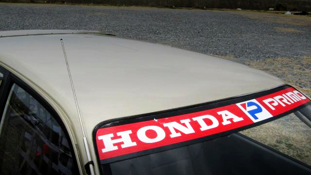 HONDA PRIMO WINDOW SHIELD BANNER