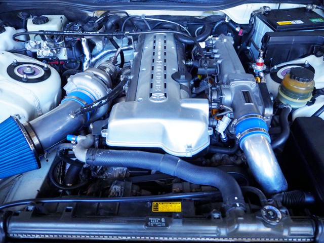 2JZ-GTE With GTX3076R SINGLE TURBO ENGINE