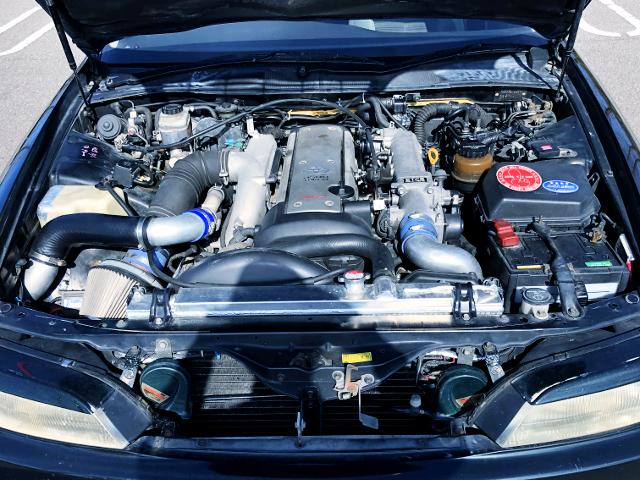 VVTi 1JZ TURBO ENGINE INTO JZX90 MARK2 TOURER-V ENGINE ROOM