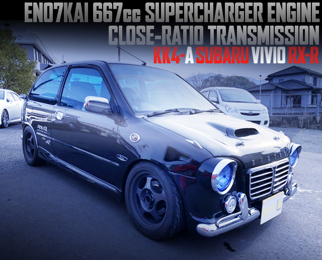 EN07 667cc SUPERCHARGER AND CLOSE-RATIO GEARBOX INTO KK4-A VIVIO RX-R