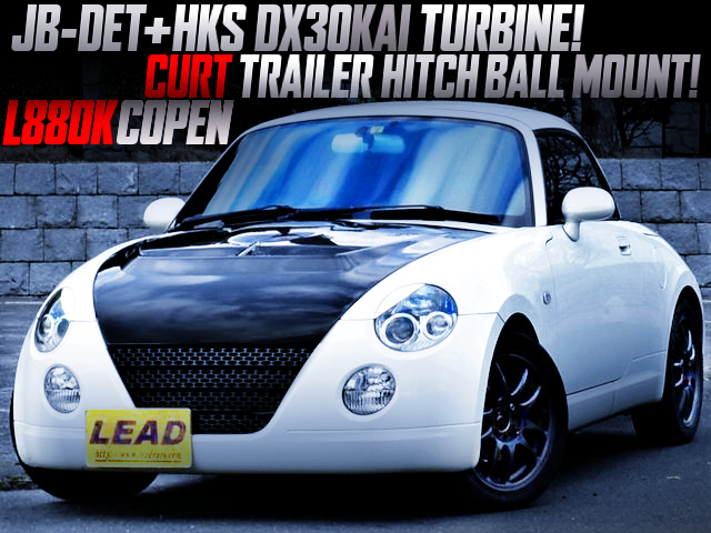 JB-DET With HKS DX30KAI TURBO AND ECU REMAPPED TO L880K COPEN