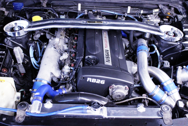 RB26 TWIN TURBO ENGINE OF R33 GT-R MOTOR