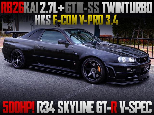 GT3-SS TWINTURBO R34 GT-R V-SPEC