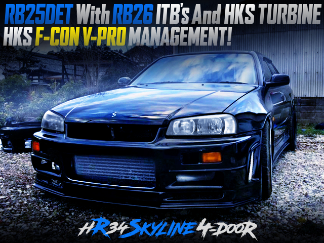 RB25DET With RB26 ITB'S AND HKS TURBO INTO HR34 SKYLINE 4-DOOR