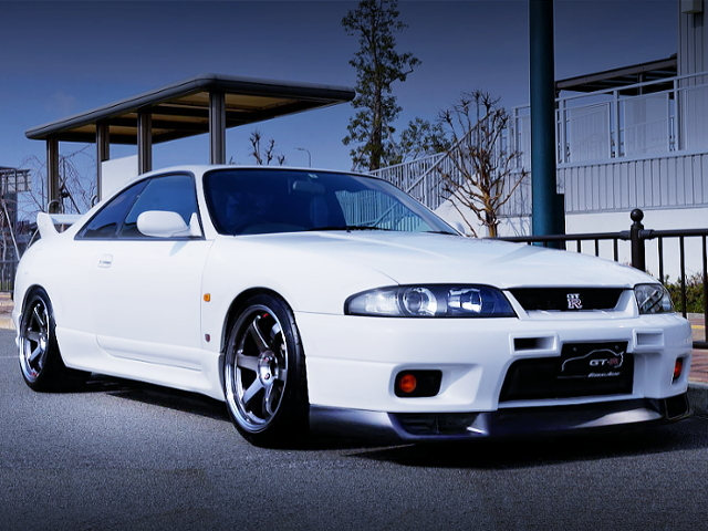 FRONT EXTERIOR OF R33 GT-R WHITE