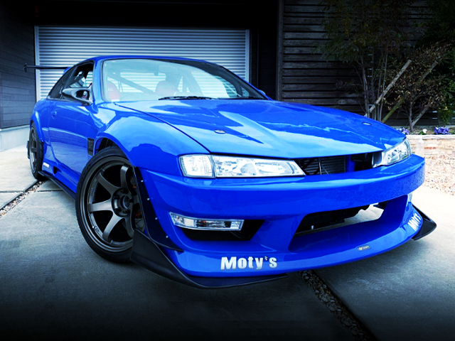 FRONT EXTERIOR OF S14 SILVIA BLUE