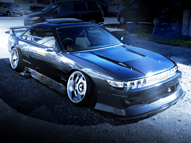 FRONT EXTERIOR OF S13 FACE TO S14 SILVIA ks