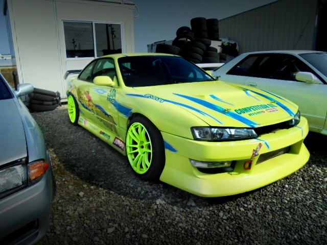 FRONT EXTERIOR OF S14 KOUKI SILVIA DRIFT CAR