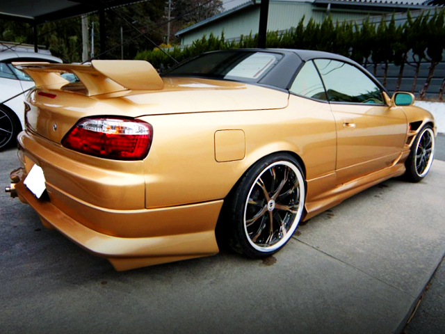 REAR EXTERIOR OF S15 SILVIA VARIETTA TO GOLD