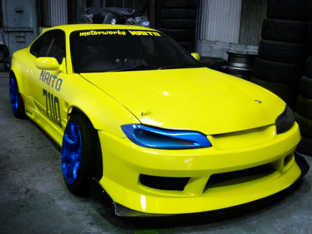 FRONT EXTERIOR OF S15 SILVIA YELLOW