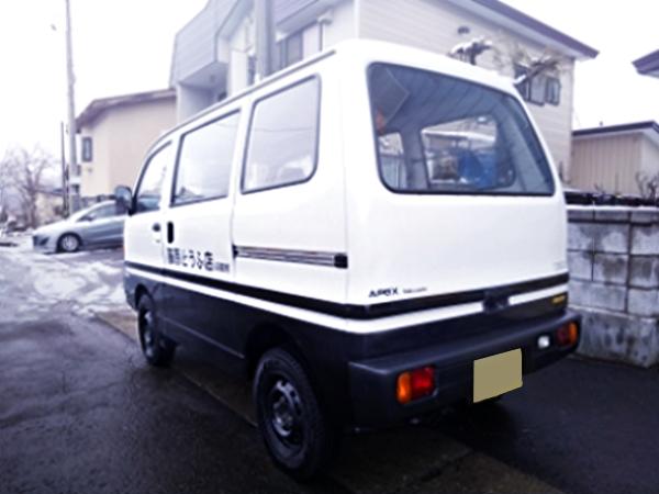 REAR EXTERIOR OF U42V MITSUBISHI MINICAB