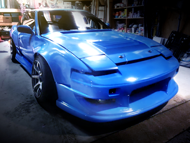 FRONT EXTERIOR OF 180SX BLUE