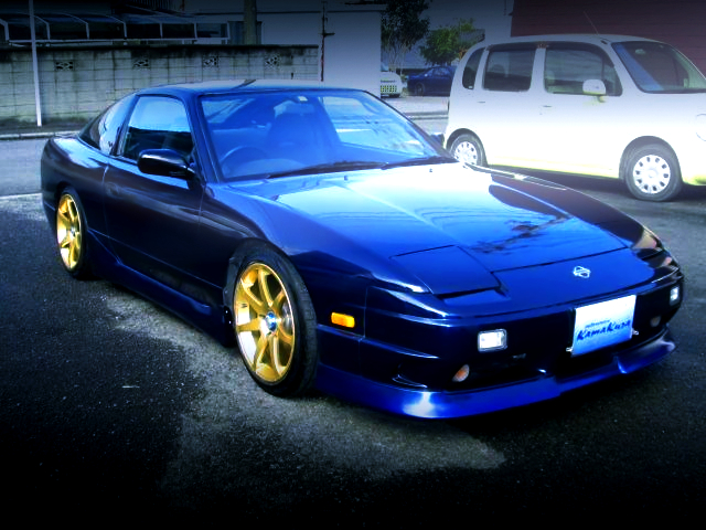 FRONT EXTERIOR OF 180SX TO DARK BLUE