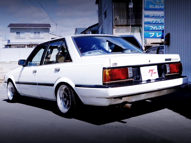 REAR EXTERIOR OF AA63 CARINA 4-DOOR 1600 GT-R