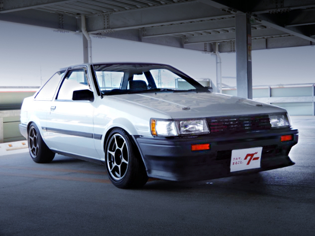 FRONT EXTERIOR OF AE85 LEVIN LIME
