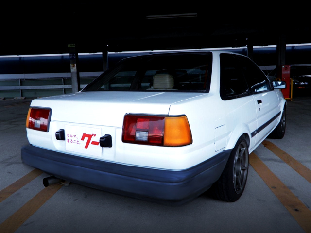 REAR EXTERIOR OF AE85 LEVIN LIME