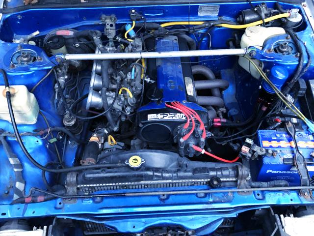 20V 4AG ENGINE INSTALLED AE86 ENGINE rOOM